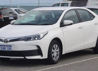 Toyota Corolla E18 benzyna - cena przeglądu okresowego dużego