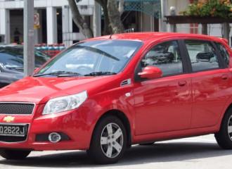 Chevrolet Aveo T250 - Cena wymiany klocków hamulcowych