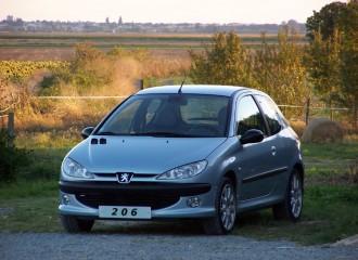 Peugeot 206 - Cena wymiany klocków hamulcowych
