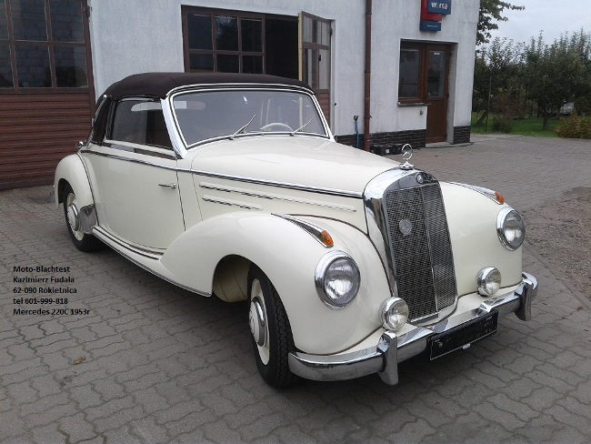 Mercedes 220C 1953', Odbudowa samochodu zabytkowego ...