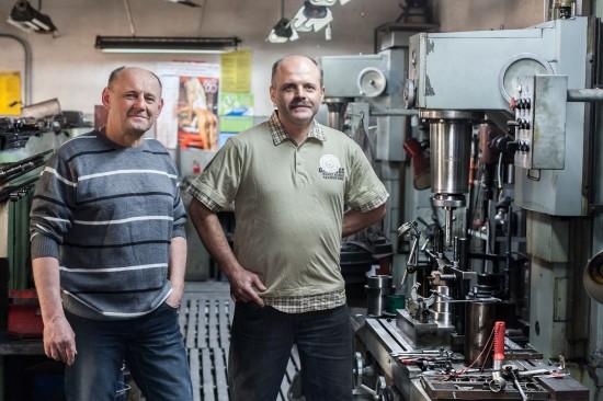 Andrzej i Wojciech Szymczak - właściciele warsztatu