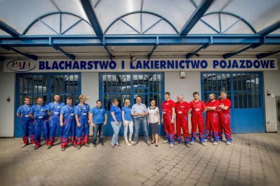 Pracownicy Autokliniki s.c. Jerzy Paja w Rudzie Śląskiej
