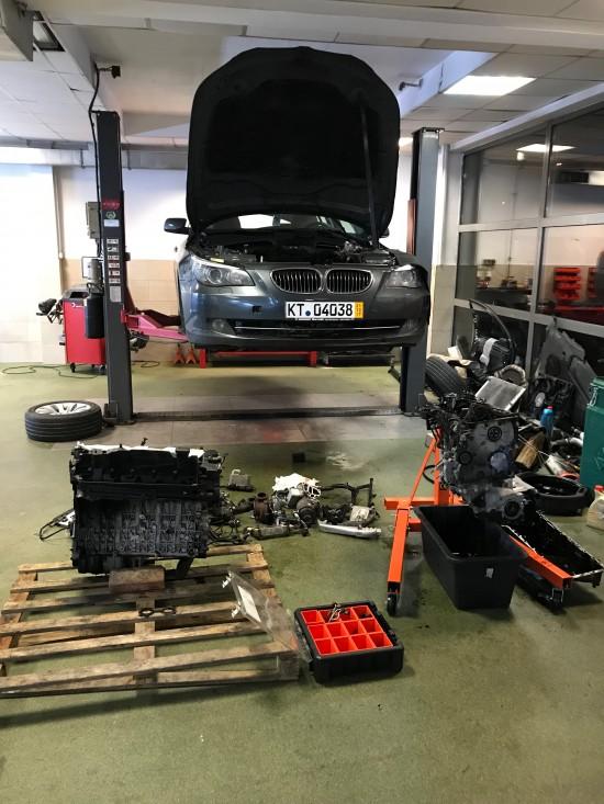 Przekładka silnika BMW 530D