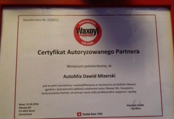 jesteśmy autoryzowanym punktem zabezpieczeń antykorozyjnych podwozi i profili środkami firmy WAXOYL