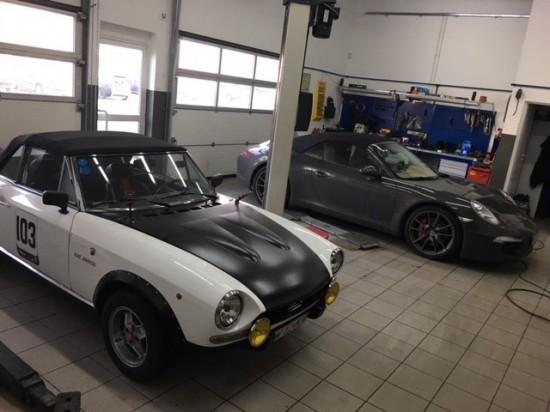 Fiat 124 and Porsche 911