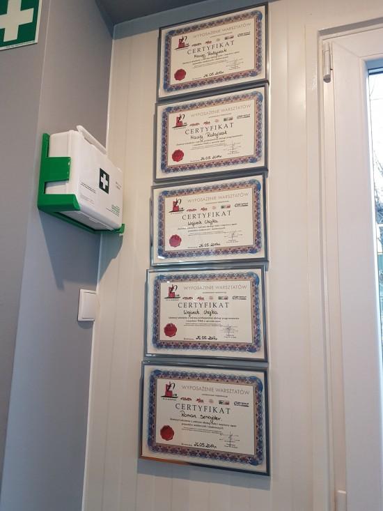 Zasłużone certyfikaty