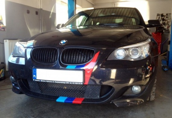BMW E60 przyjechało do nas na usunięcie zepsutego zaworu egr.
