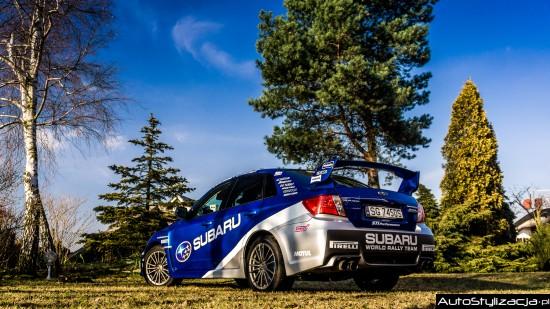 Subaru impreza zmiana koloru auta oklejanie
