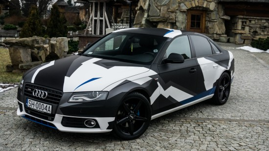 Audi A4 sedan camo wrap