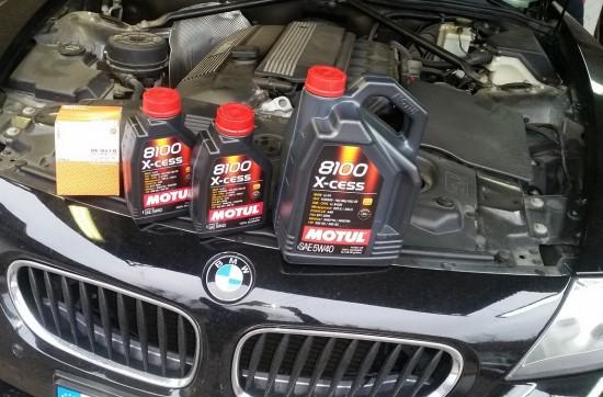Serwis olejowy BMW Z4 plus mycie komory silnika
