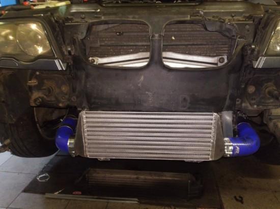 BMW E46 320d - montaż wydajniejszego intercoolera i chip tuning.