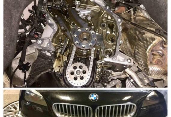 Wymiana kompletnego rozrządu BMW F11. Części OE BMW... ta robota to sama przyjemność ;)