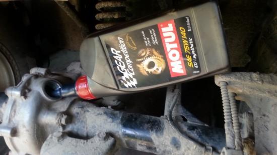 Wymiana oleju w tylnym moscie  quad Honda