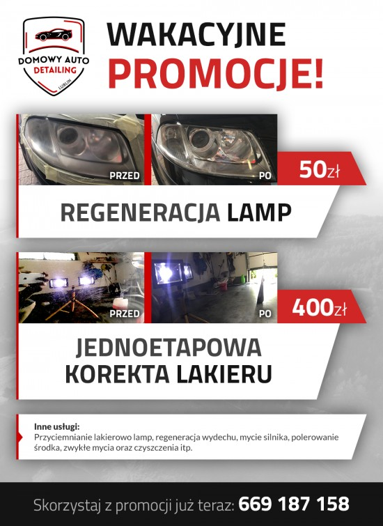 Promocja lampy i korekta