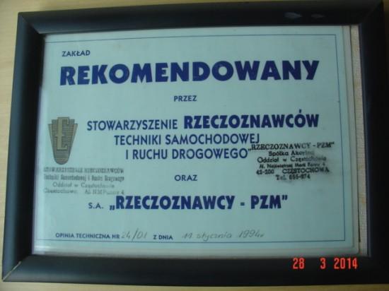 Certyfikat PZM
