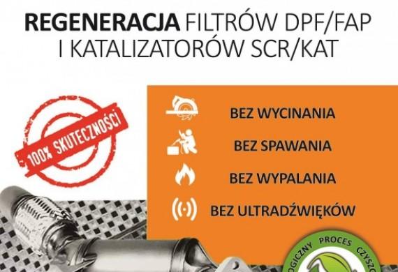 REGENERACJA DPF/FAP ORAZ KATALIZATORÓW SCT/KAT
