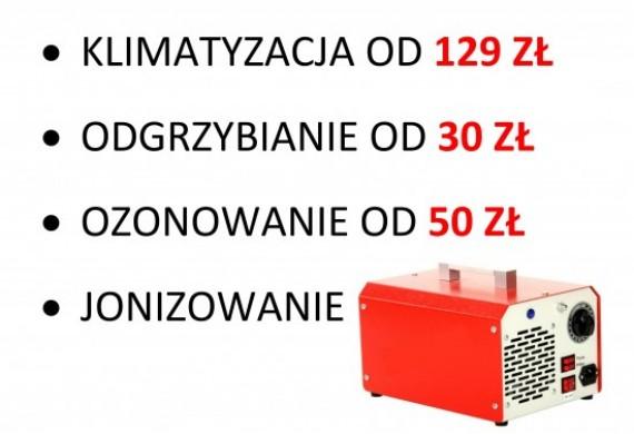 - diagnostyka - uzupełnienie czynnika - dobicie różnicy - odgrzybianie - ozonowanie - naprawy
