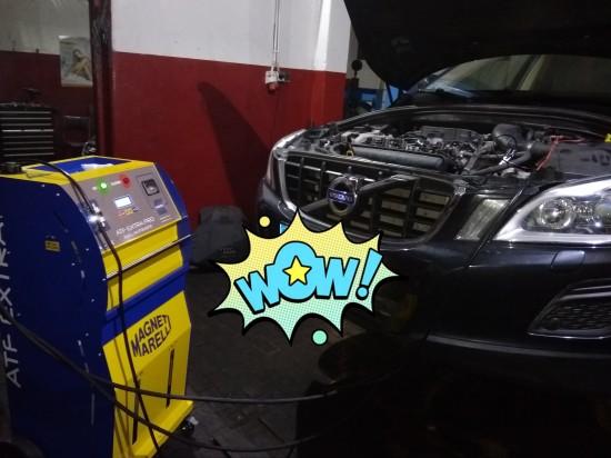 Dynamiczna wymiana oleju skrzyni automatycznej Volvo xc60