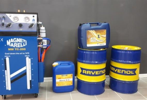 Zapraszamy na dynamiczną wymianę oleju w skrzyniach automatycznych.