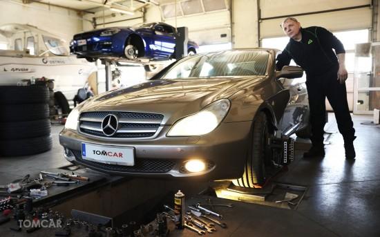 Mercedes CLS - Ustawienie zbieżności i geometrii