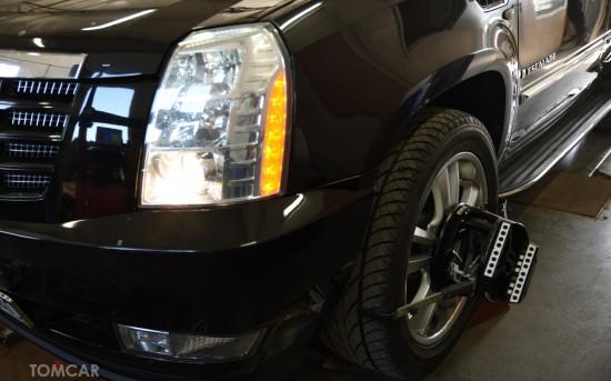 Cadillac Escalade - Nasz sprzęt poradzi sobie także  z takimi dużymi kołami