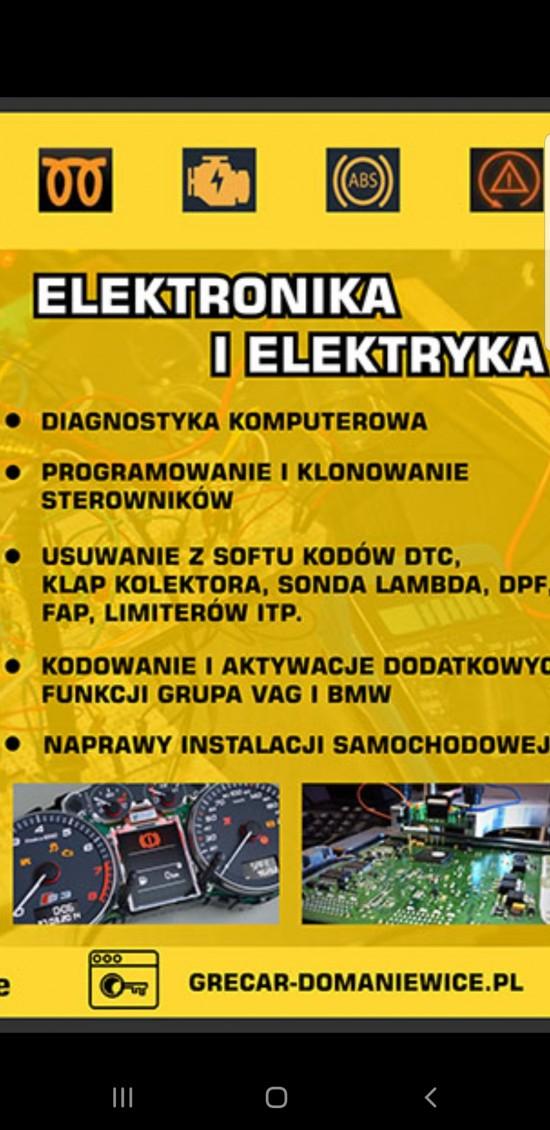 Naprawa elekyryki i elektroniki samochodowej