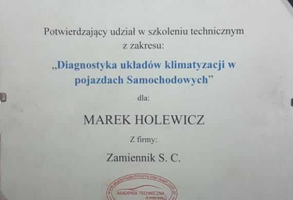 Certyfikat za szkolenia