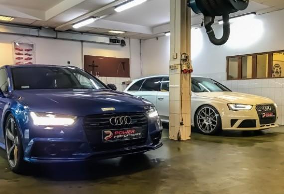 Modyfikacja Audi A7 3.0 BiTDI oraz bieżący serwis auta po modyfikacji Audi RS4