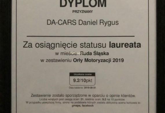 Przedstawiamy Państwu Dyplom Laureata Orłów Motoryzacji 2019