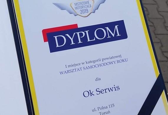 W 2019 roku otrzymaliśmy tytuł warsztatu roku w Toruniu oraz trzeci warsztat w województwie