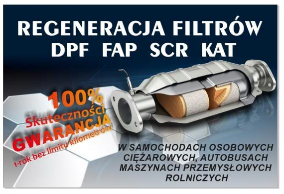 Regeneracja filtrów cząstek stałych DPF FAP SCR KAT