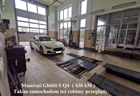 Maserati Ghibli S Q4 ( 430 kM ) , Takim samochodom też robimy przeglądy.  Nie zwlekaj, zadzwoń do nas już teraz 16 624 20 15 wew. 16, umów się na badanie i nie marnuj swojego cennego czasu w kolejce.