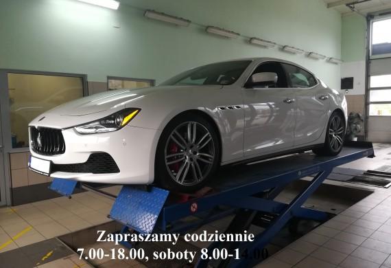 Maserati Ghibli S Q4 ( 430 kM ) , Takim samochodom też robimy przeglądy.
