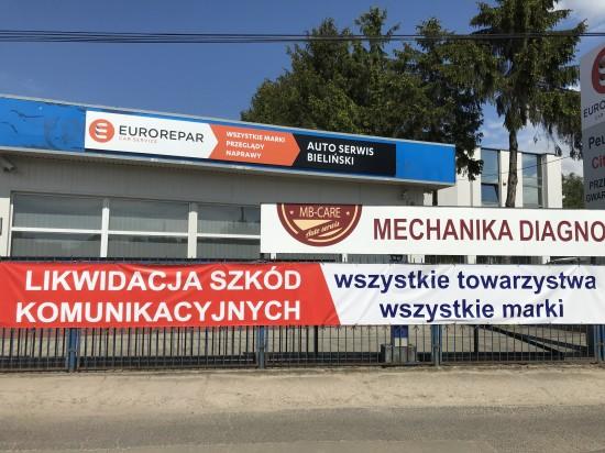 MB-CARE Marek Bieliński mechanika blacharstwo lakiernictwo Warszawa