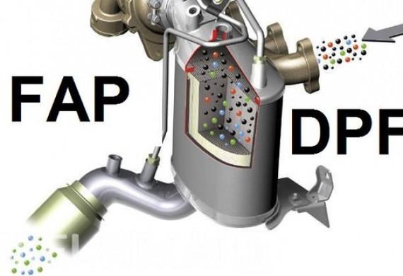 czyszczenie lub usuwanie filtra DPF FAP