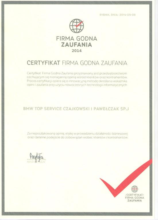 Certyfikaty firm dokonujących audyt