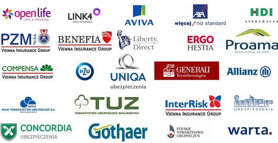 Towarzystwa Ubezpieczeniowe z którymi współpracujemy
