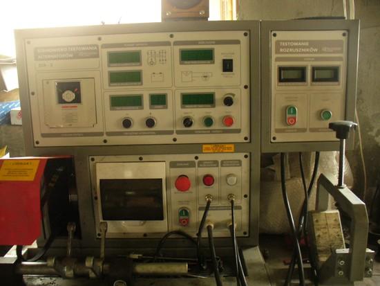 STA 2 - stół probierczy i TR 1 - tester roruszników