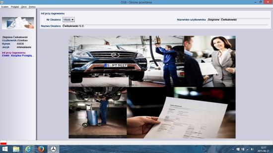 Przeglądy gwarancyjne z wpisem do digital service booklet Mercedes-Benz