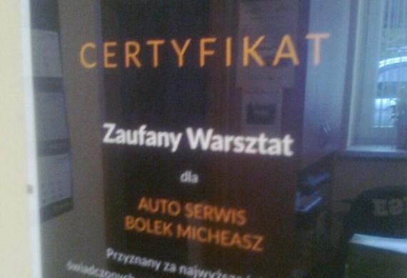 Certyfikat Zaufany Warsztat