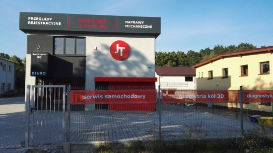 Front warsztatu JapanTech - mechanik Wrocław