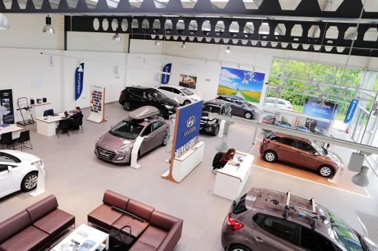 Widok salonu Hyundai Białystok