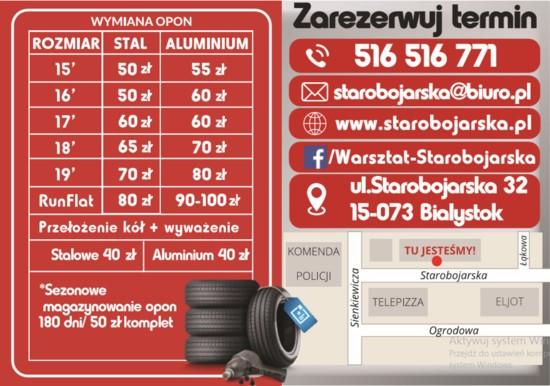 Warsztat Starobojarska - Mechanik samochodowy Białystok Zarezerwuj termin 516 516 771