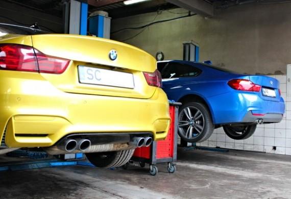 BMW Serii 4 F32 na serwisie olejowym i BMW M4 F82 gdzie rozwiązywaliśmy m.in. z mocą.
