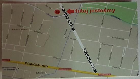 SKRÓCONA MAPKA DOJAZDU DO AUTO SERWIS TOYMER