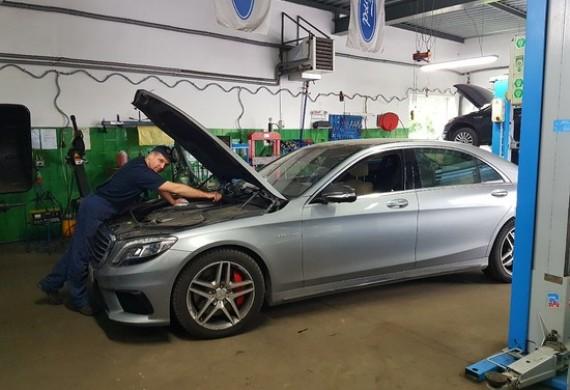 Mercedes S63 AMG 585KM V8 po naprawie już gotowy do wyjazdu. Szerokiej drogi