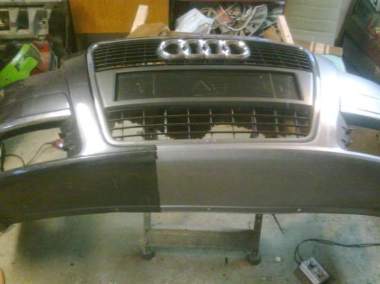 Spawanie zderzaka Audi a6  1z2