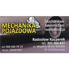 Mechanika Pojazdowa Blacharstwo Lakiernictwo Wulkanizacja