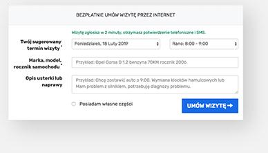 formularz umów wizytę przez internet